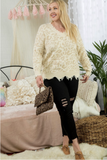 Love Me Fast Frayed Sweater