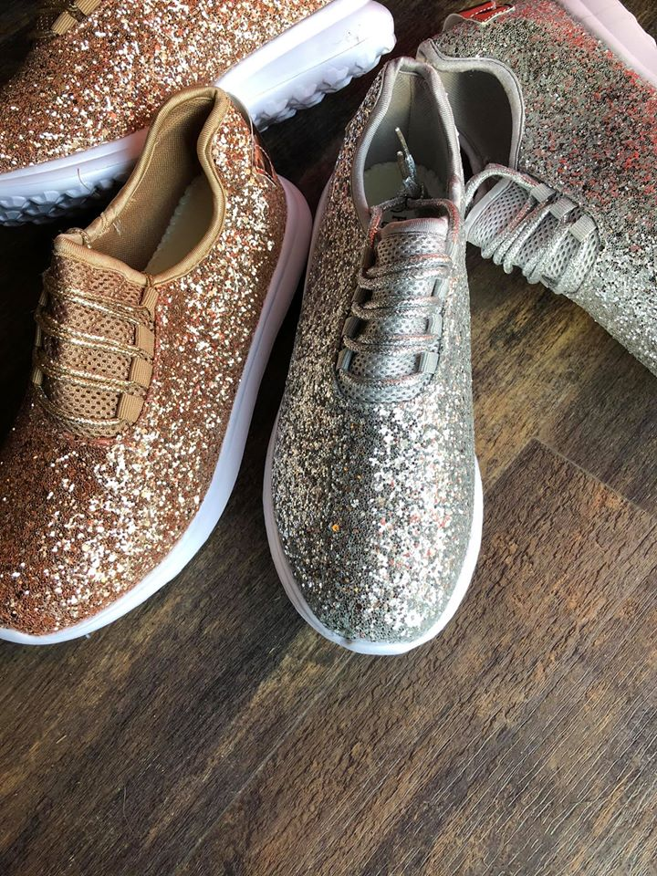 *Glitter Bomb Babe Tennis Shoes