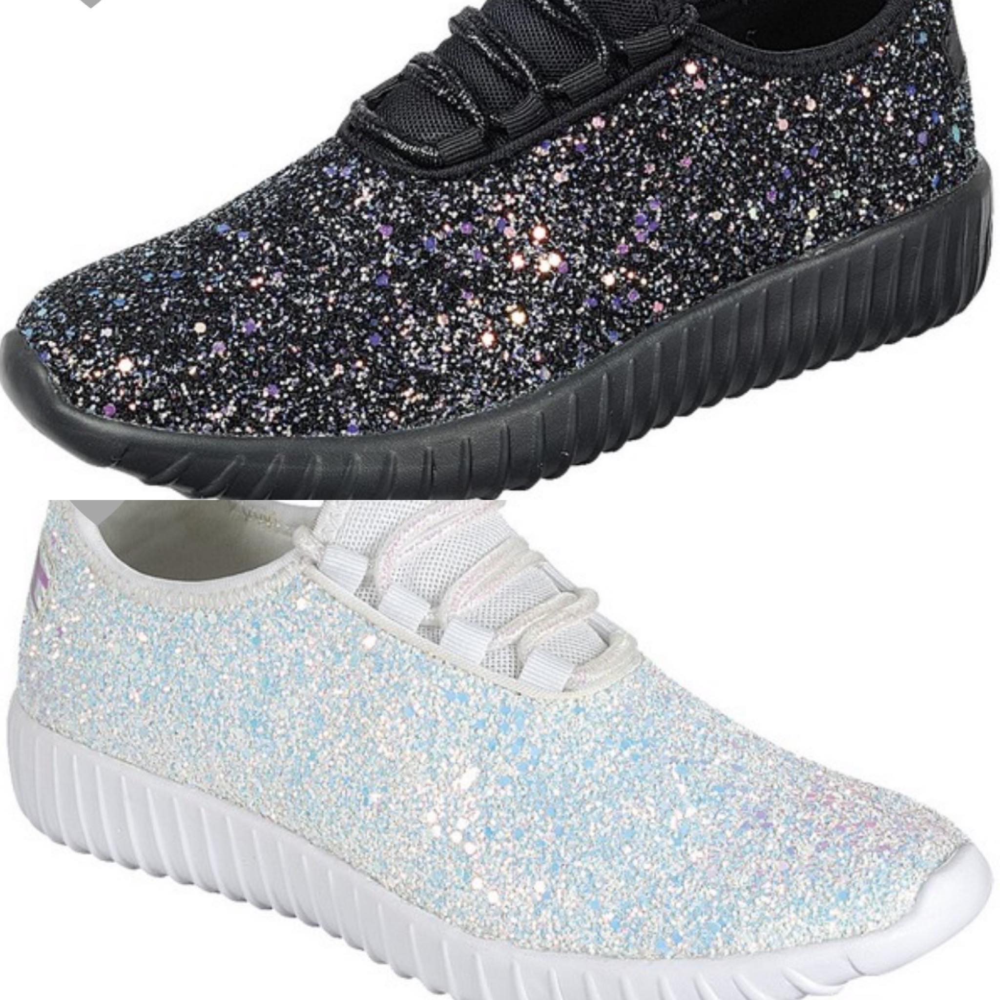 *Glitter Bomb Babe Tennies! Black or White!