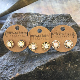 *Buffalo Girls Salvage Bullet Studded Earrings
