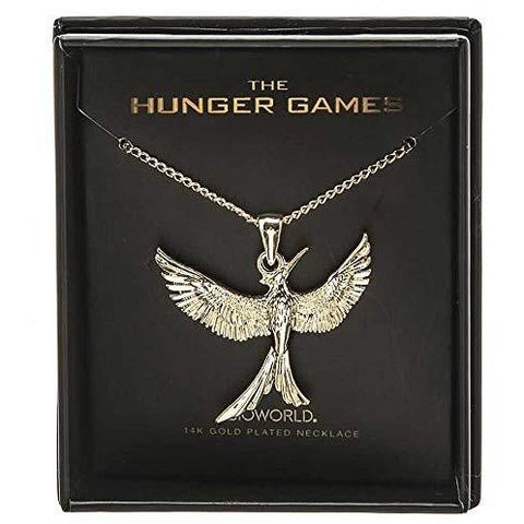Hunger Games Mockingjay Gold Plated Necklace