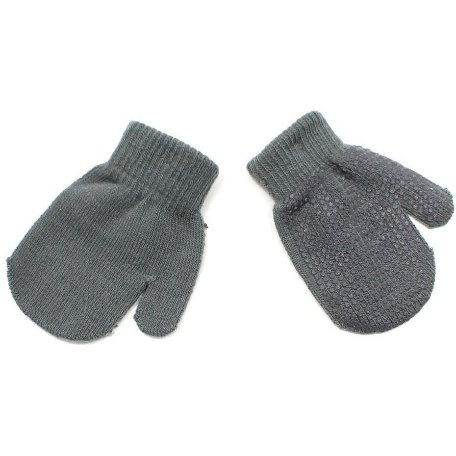 Warm Fleece 2T-4T Kid's Grey Mittens