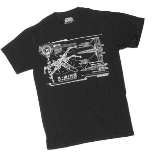 Star Wars X Wing Star fighter Schematics Mens Tee T Shirt - Apparelholic