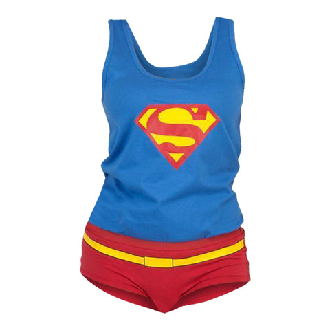 Supergirl Adult Underwear and Tank Set