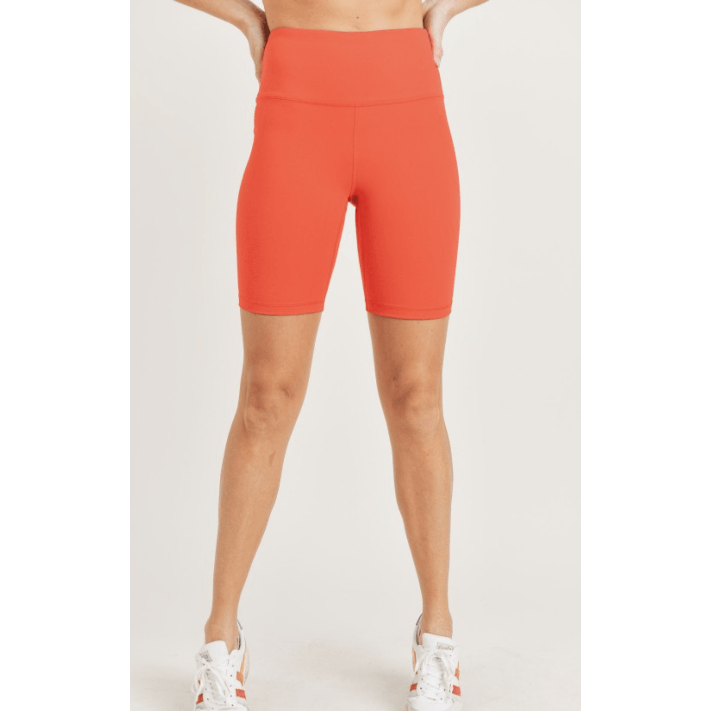 Neon Orange Biker Shorts - Southern Roots Clothing Company