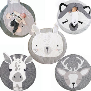 tapis rond animaux