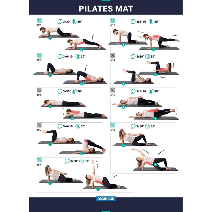 Mata do pilatesu 500 rozmiar M 15 mm DOMYOS