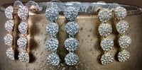 Crystal CZ 4 Round Tier CZ Stones Earrings, Silver | Fashion Jewellery Outlet