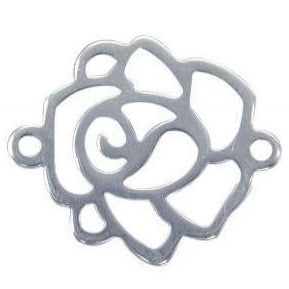 Sterling Silver Rose Connector | Fashion Jewellery Outlet