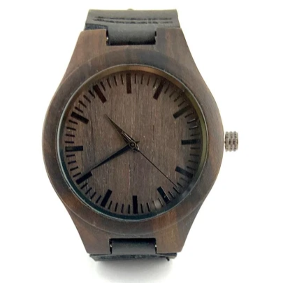 Laser Engraved Wood Watch with Box | Fashion Jewellery Outlet