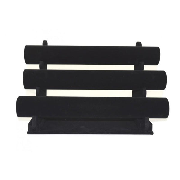 Triple Bar Velvet Bracelet Rack | Fashion Jewellery Outlet