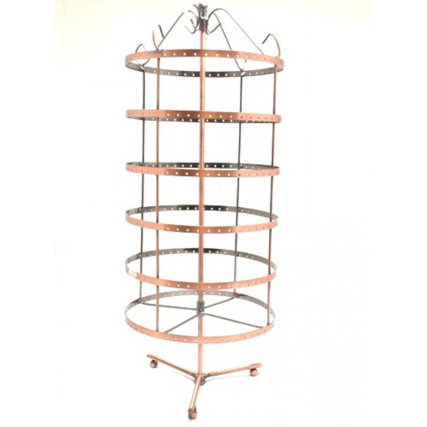 Earring Display Round Rotate Rack 288 Holes Copper | Fashion Jewellery Outlet