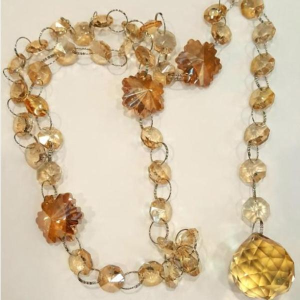 Crystal Backdrop Strand, Golden Shadow | Fashion Jewellery Outlet