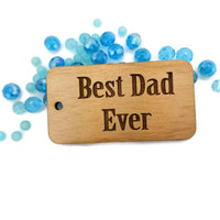 Best Dad Ever Wood Charm | Fashion Jewellery Outlet