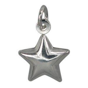 Sterling Silver Smooth Star Charm | Fashion Jewellery Outlet