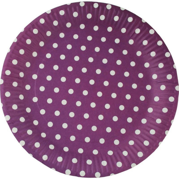 Party paper Plates, Purple | Fashion Jewellery Outlet
