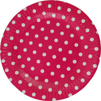 Party Paper Plates, Fuchsia | Fashion Jewellery Outlet