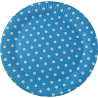 Party Paper Plates, Blue | Fashion Jewellery Outlet