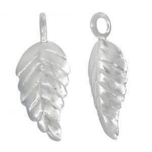 Sterling Silver Leaf Charm | Fashion Jewellery Outlet