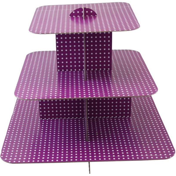 Cup Cake Stand, Purple | Fashion Jewellery Outlet