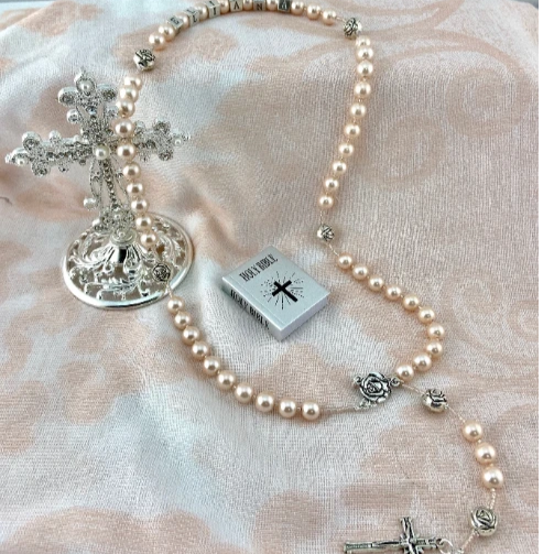 Pink Pearl Custom Handmade Rosary | Fashion Jewellery Outlet