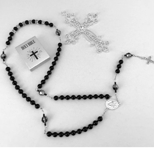 Black Onyx Custom Handmade Rosary | Fashion Jewellery Outlet