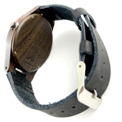 Laser Engraved Wood Watch | Fashion Jewellery Outlet