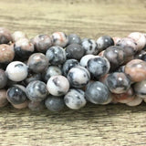 12mm Pink Zebra Jasper Bead | Fashion Jewellery Outlet