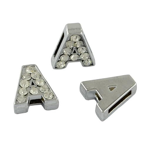 Alloy CZ Slider Letters, Charm Letters | Fashion Jewellery Outlet