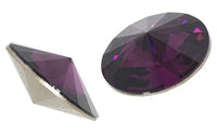 12mm Swarovski Rivoli Stones, Amethyst | Fashion Jewellery Outlet