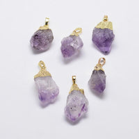 Amethyst Nugget Pendant | Fashion Jewellery Outlet