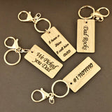 Father's Day Key Chain Personalized Tag | Fashion Jewellery Outlet