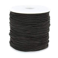 Elastic Cord 0.8mm Thick, 15 meter Roll, Black | Fashion Jewellery Outlet