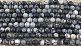4mm Black Stone Beads | Fashion Jewellery Outlet