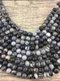 Black Stone Beads | Fashion Jewellery Outlet