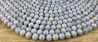 8mm Blue Lace Agate Bead | Fashion Jewellery Outlet