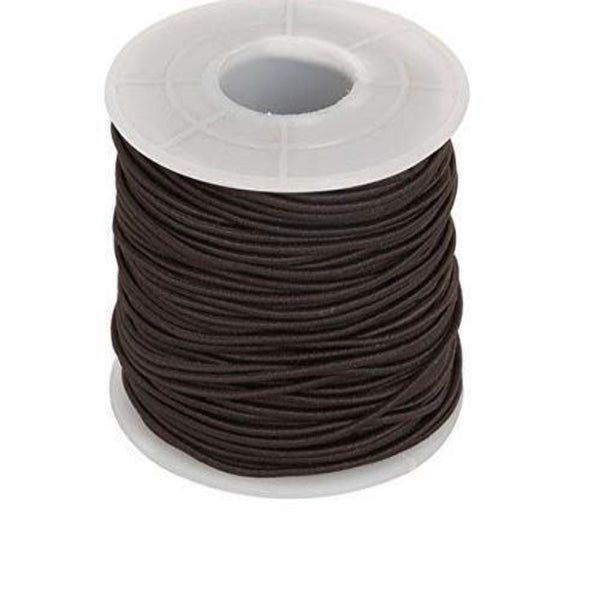 Elastic Cord 0.8mm Thick, 15 meter Roll, Brown | Fashion Jewellery Outlet