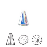 Swarovski Cone Bead 5540, Crystal AB | Fashion Jewellery Outlet
