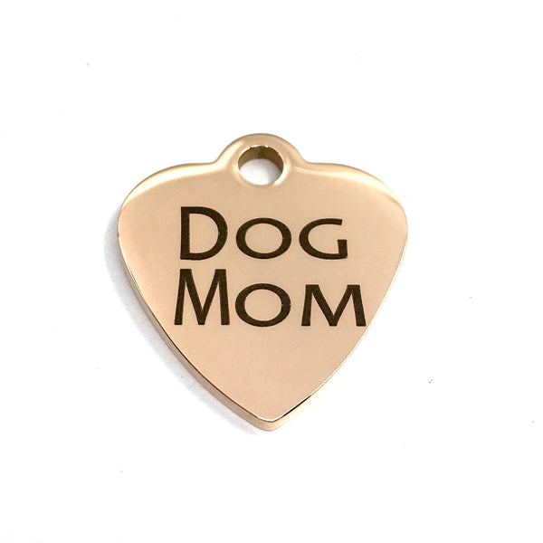 Dog Mom Laser Engraved Charm | Fashion Jewellery Outlet