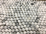 8mm Frosted White Howlite Bead | Fashion Jewellery Outlet