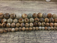 8mm Picture Jasper Bead | Fashion Jewellery Outlet