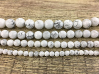 8mm White Howlite Bead | Fashion Jewellery Outlet