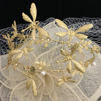 Hair Accessories, Gold Tone Dragonfly Headband | Fashion Jewellery Outlet