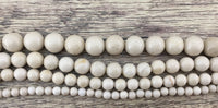 6mm Fossil Beads, Ivory Round Beads | Fashion Jewellery Outlet