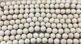 4mm Fossil Beads, Ivory Round Beads | Fashion Jewellery Outlet