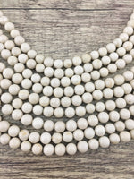 Fossil Beads, Ivory Round Beads | Fashion Jewellery Outlet