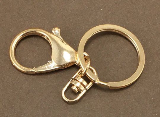 Gold Key Chain Ring | Fashion Jewellery Outlet