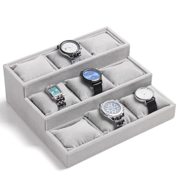 Grey Velvet Pillow Tray, Bracelet/  Watch Display | Fashion Jewellery Outlet