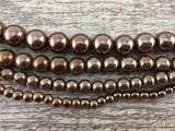 6mm Bronze Hematite Bead | Fashion Jewellery Outlet