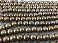 8mm Bronze Hematite Bead | Fashion Jewellery Outlet